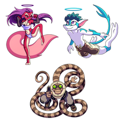 Commission: Tinsel, Evzen, and Scinter