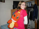 Crocheted Charmander Backpack