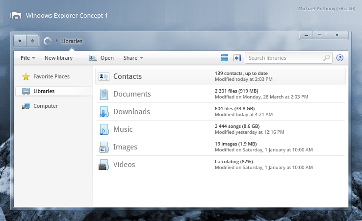 Windows Explorer Concept 1 by Rock0