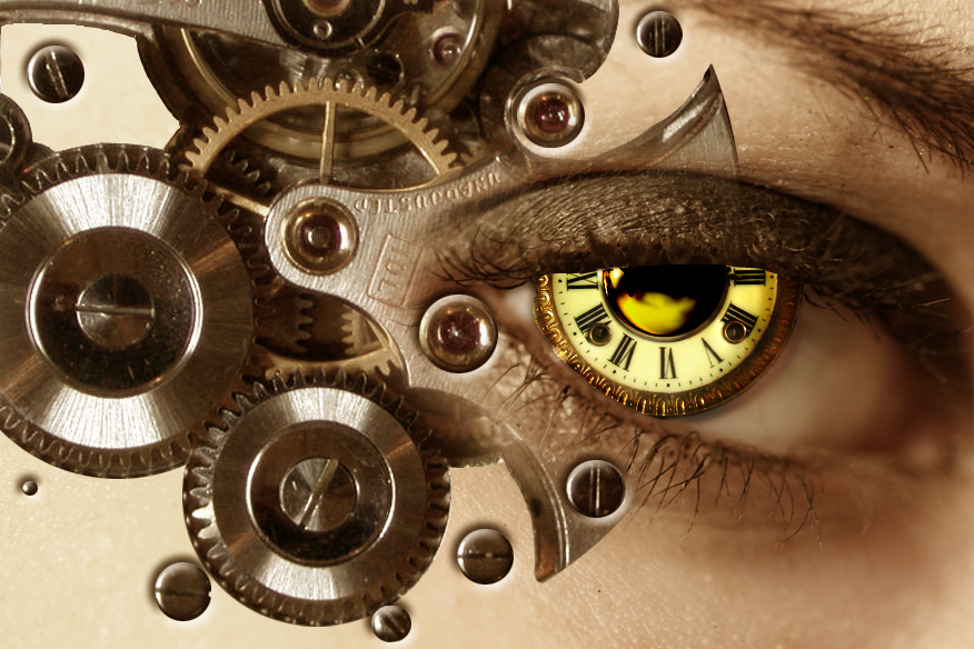 eye clock digital art