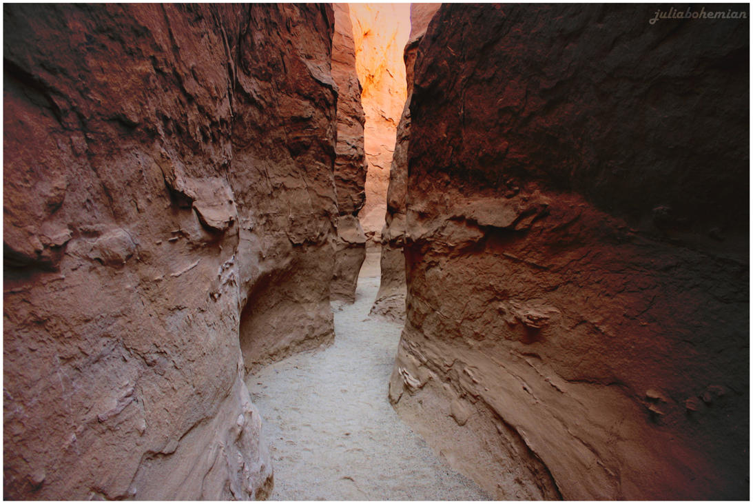 Slot Canyons in Anza-Borrego State Park by Juliabohemian