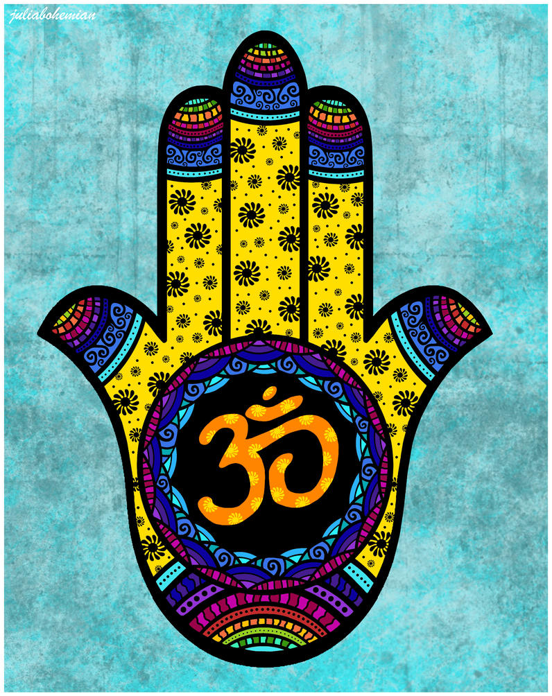 Mehndi Hamsa by Juliabohemian