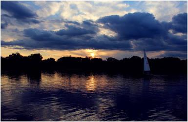 Sunset on Lake Calhoun by Juliabohemian