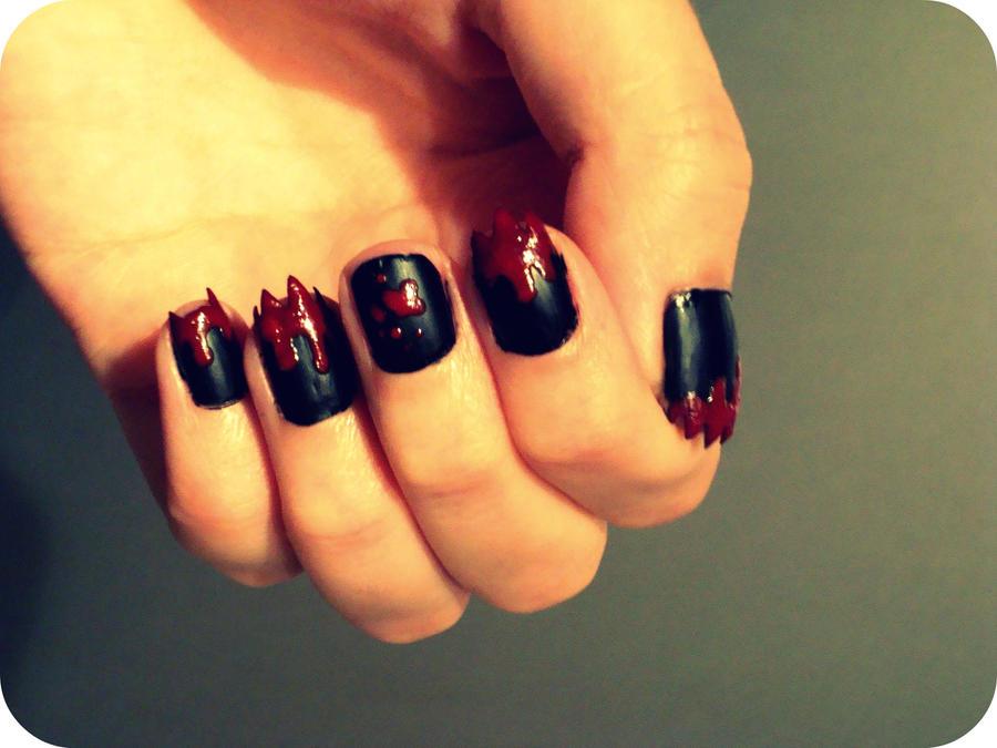 Bloody devil nails by bamblerose on deviantart bloody devil nails by bamblerose prinsesfo Choice Image