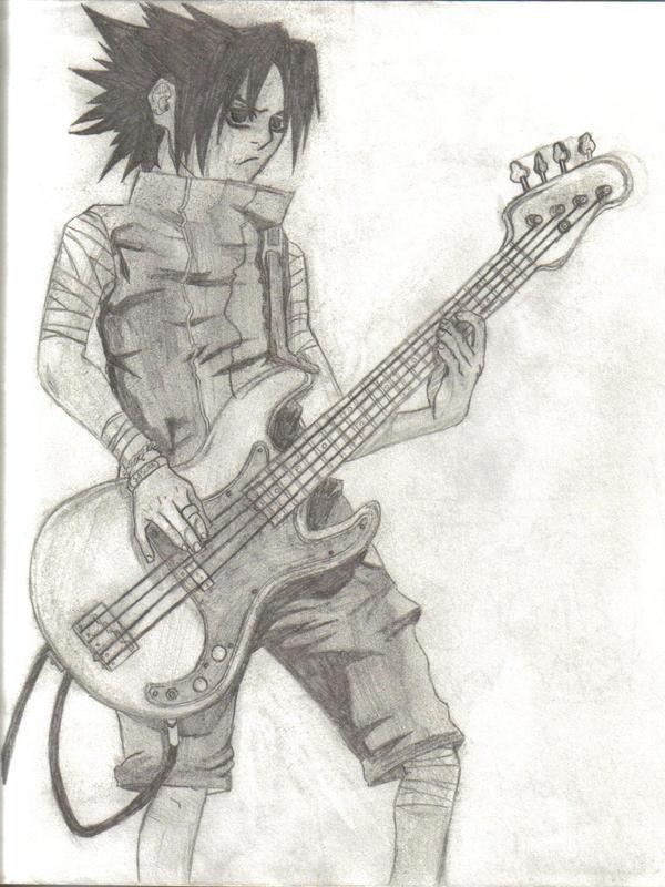 Sasuke Playing Guitar By LilOtoto