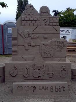 8-bit sand sculpture