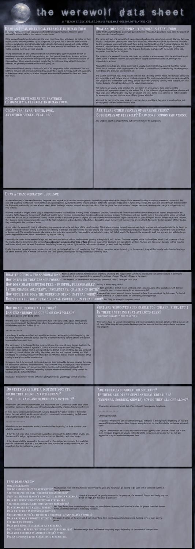 The Werewolf Data Sheet by SilverWerewolf09