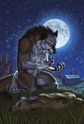 Werewolf Tale - Front Cover by SilverWerewolf09
