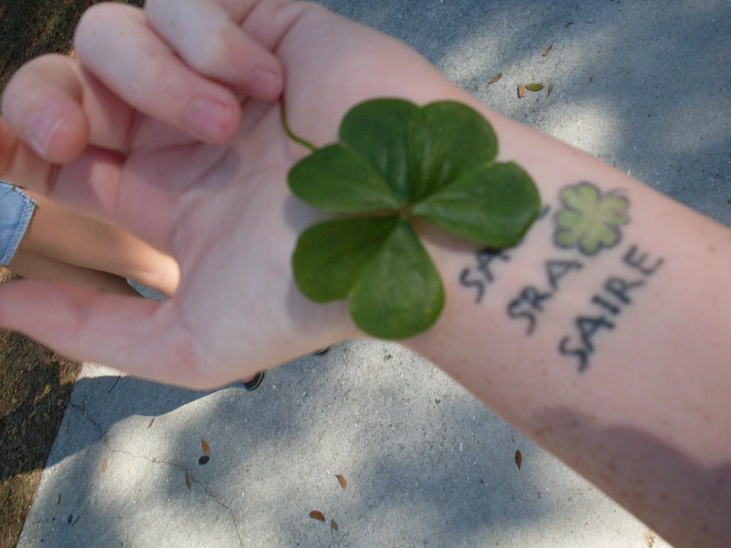Art tattoo collection tattoo ideas by clyde kirkland for Luck of the irish tattoos