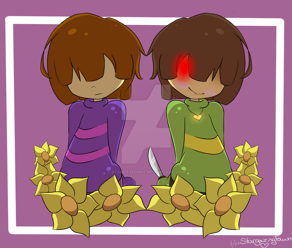 Chara and Frisk by Narnarmon on DeviantArt