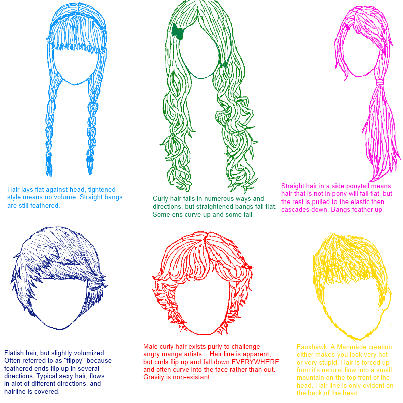 CA Pop quiz 2: Hair Styles and Types by coracat on DeviantArt