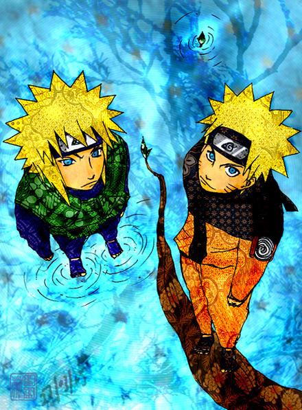 Naruto: Yondaime n Naruto by emorae
