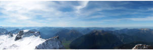 Photo - Panorama - The Alps by tigaer