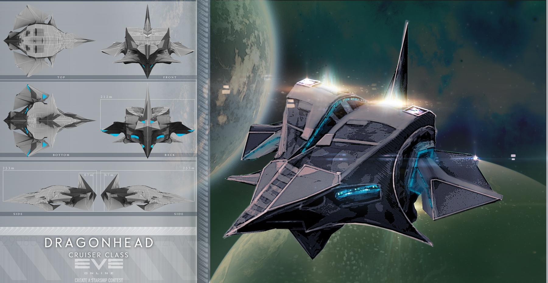 EvE Ship - 1 Dragonhead by tigaer