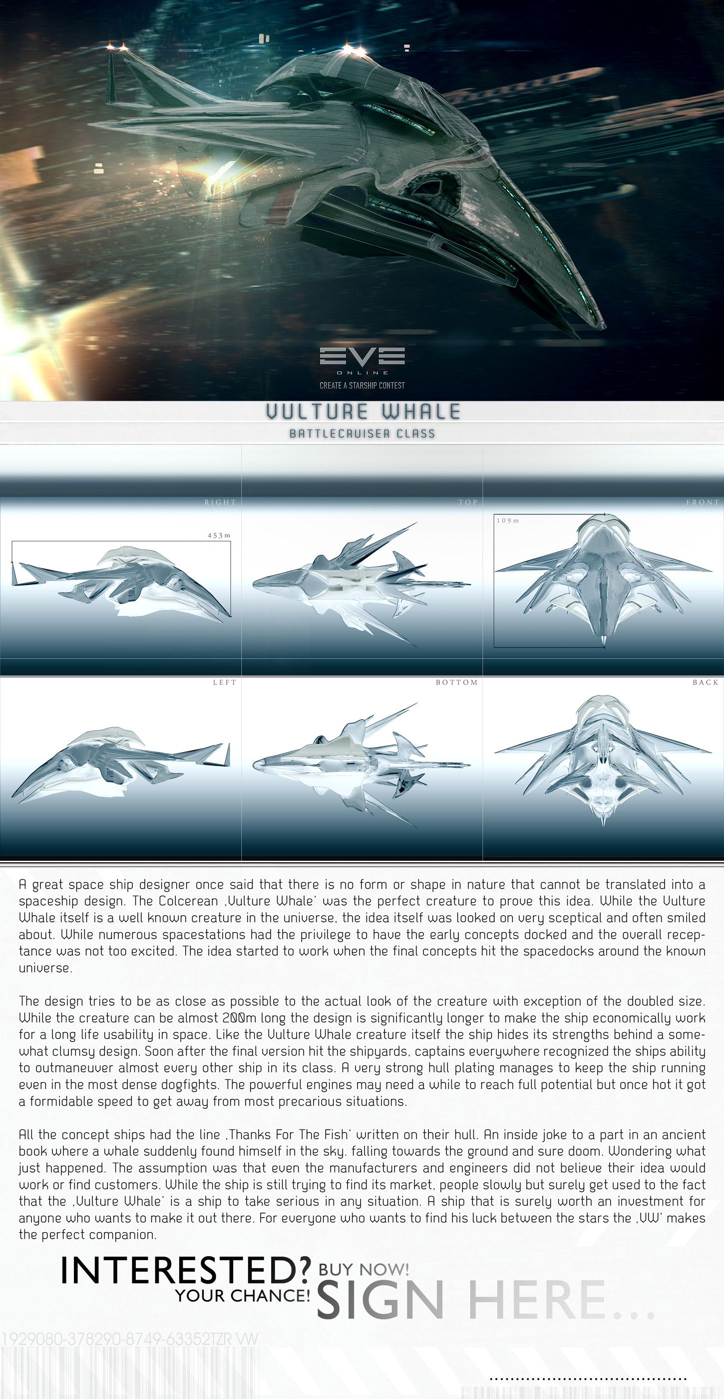EvE Ship - 2 Vulture Whale by tigaer