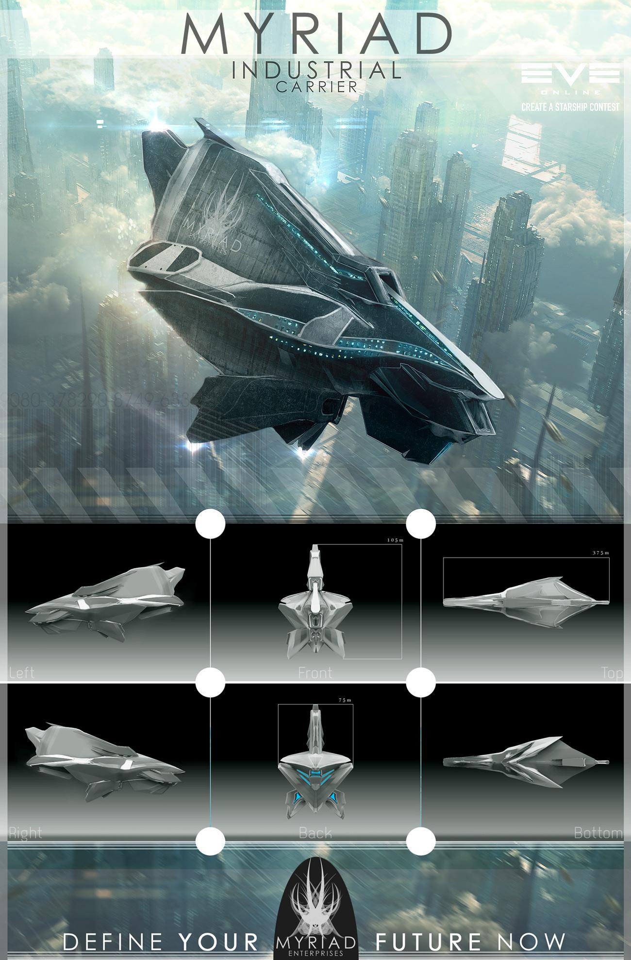 EvE Ship - 3 Myriad by tigaer