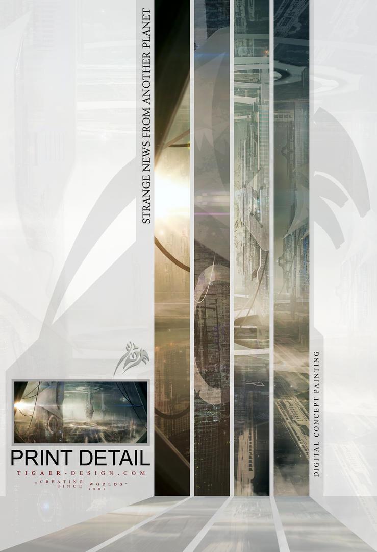 STRANGE NEWS print DETAIL by tigaer