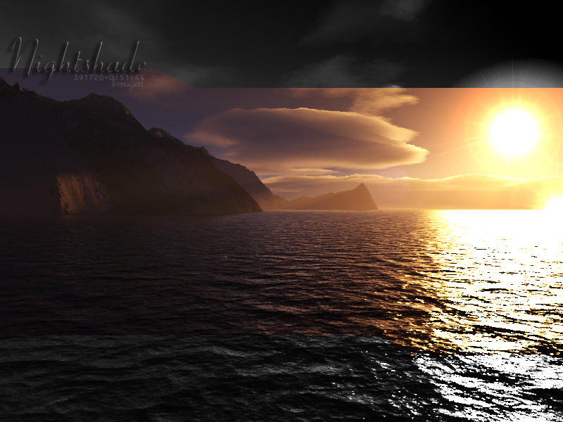 Terragen - Nightshade Five by tigaer