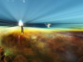 Terragen - Pulsar Dawn by tigaer
