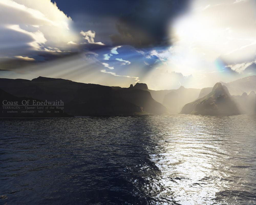 Terragen - Coast of Enedwaith by tigaer