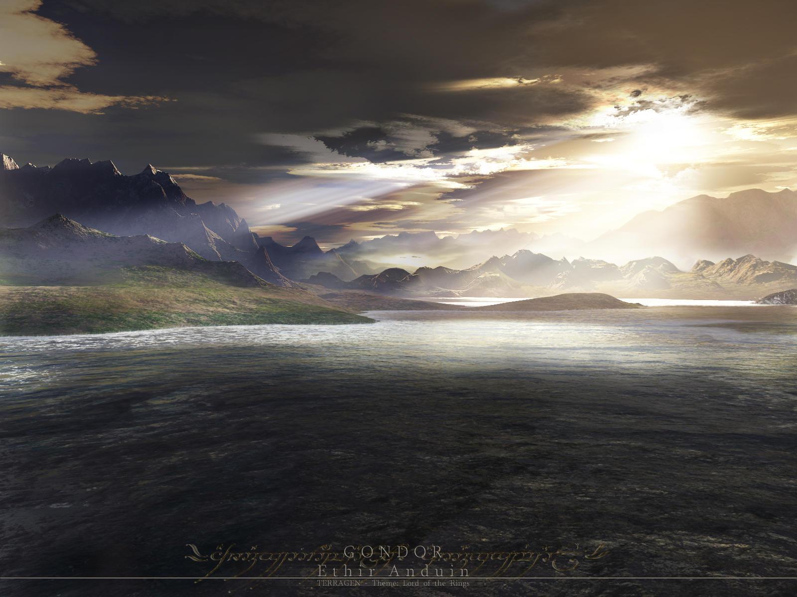 Terragen - Ethir Anduin by tigaer