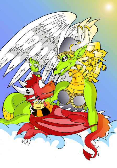 Commish: Stairway to Heaven by KaylaTheDragoness