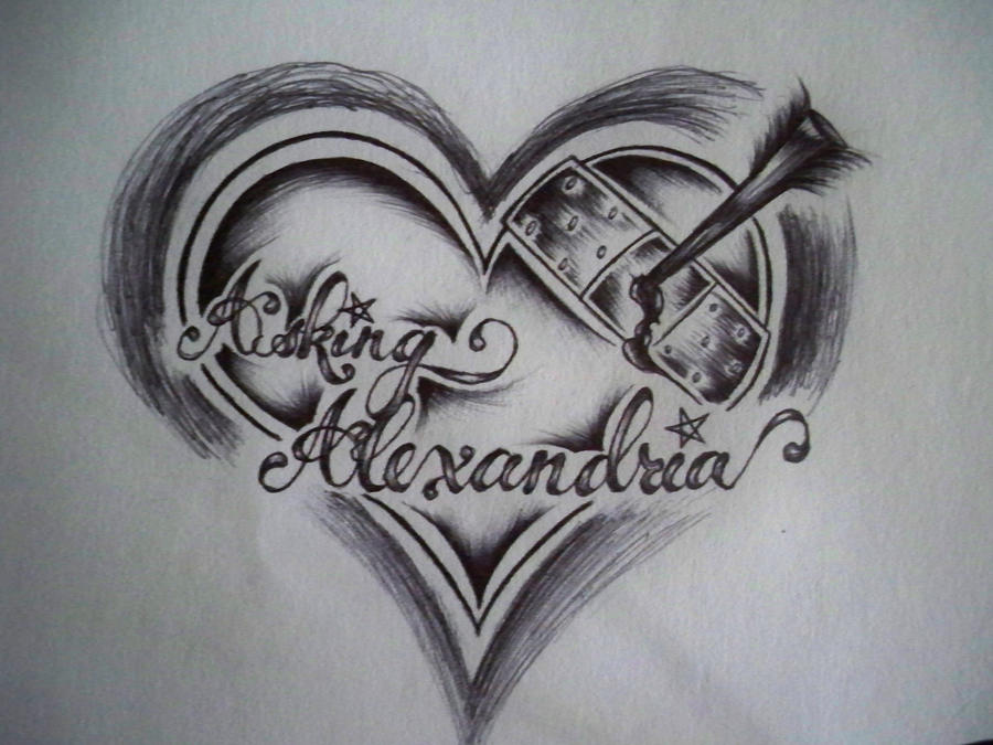 Asking alexandria by ecstasyaddiction on deviantart for Asking alexandria tattoo
