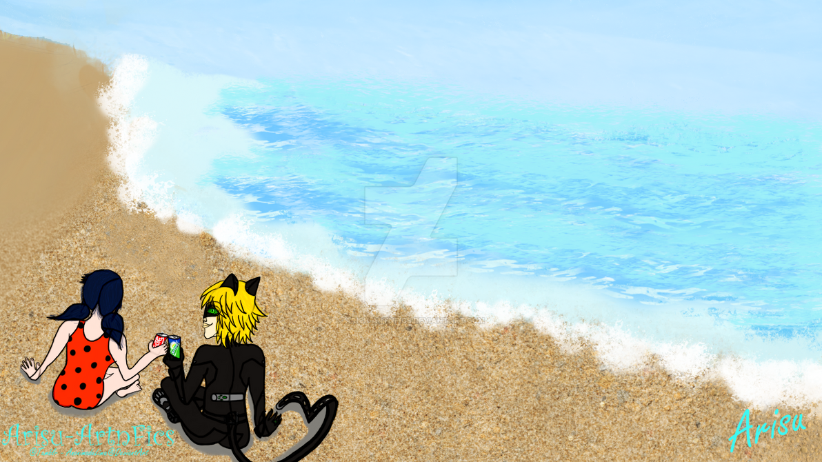 MariChat beach day (Dia de playa) by AnonimadeLima