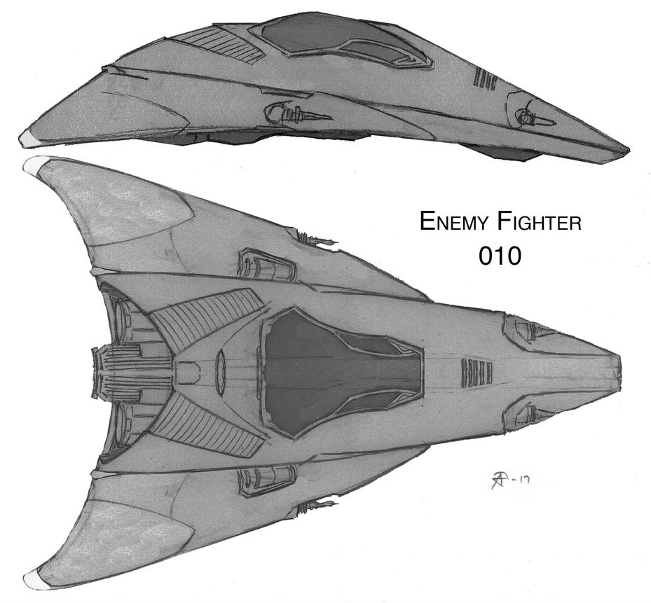 Enemy Fighter 010 by GothkGrafx