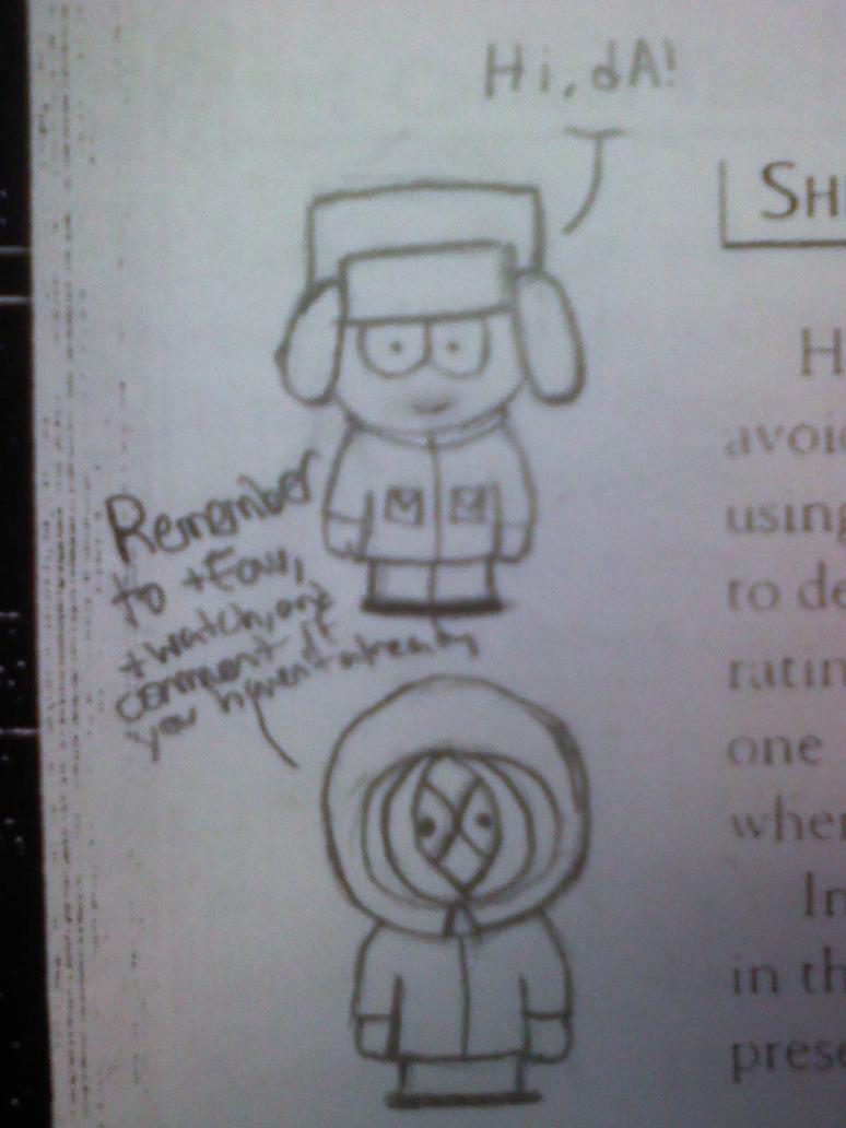 .: Kyle and Kenny Sketch :. by DavidScript
