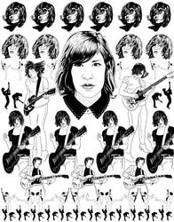 Carrie Brownstein / Wild Flag / Sleater Kinney by iparabola