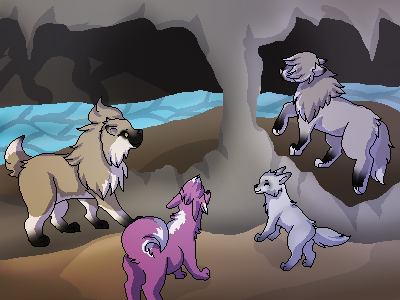 Collab: Caves Caves and more Caves by Lizzara