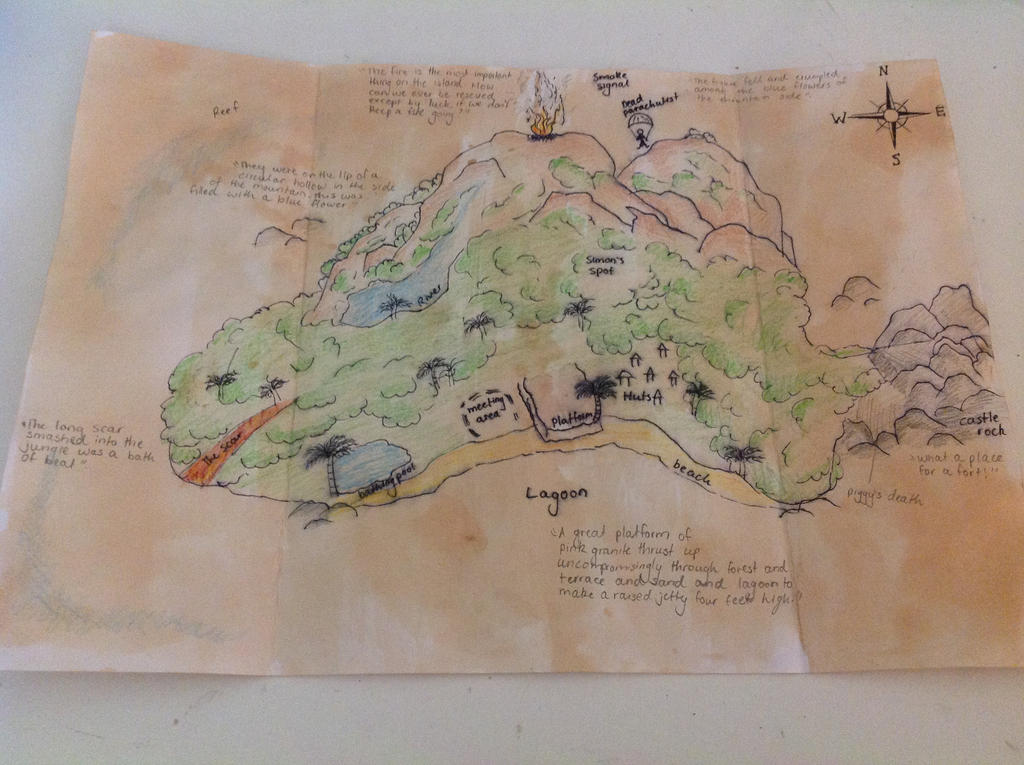Map Island Lord Of The Flies