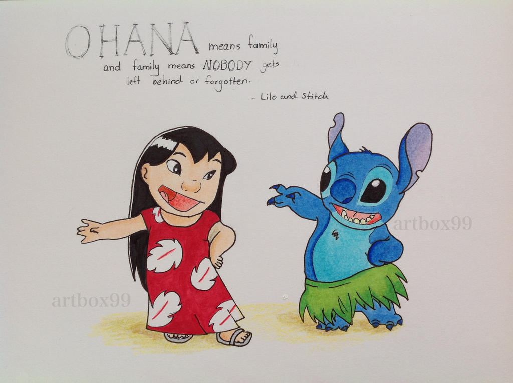 Drawings of Stitch Ohana Lilo And Stitch Ohana by