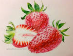 Strawberries Botanical Portrait
