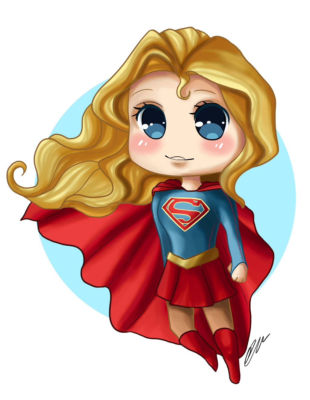Supergirl Chibi (Video) by artbox99 on DeviantArt