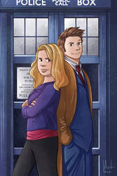 Rose and The Doctor by artbox99