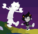 Karkat and Hobbes Colored