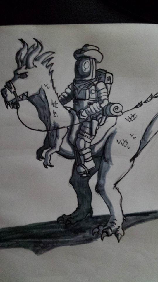 Inktober Day 18. Space.... Horse? by sketchyman3000