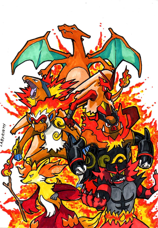 Pokemon All Fire Starter Images