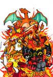 All Fire Starters Pokemon