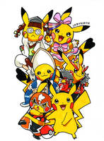 Pokemon - All Cosplay Pikachu by Arelle28