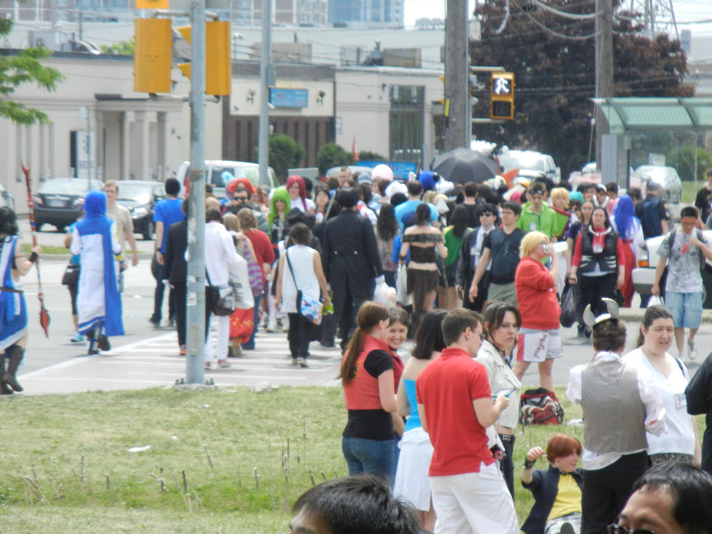 Anime North 2012 - Crowds Outside by jmcclare