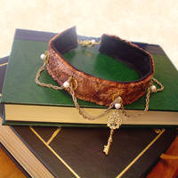 Steampunk Dragonskin Choker by leiko