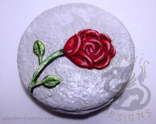 Red Rose Magnet by leiko