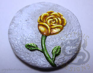 Yellow Rose Magnet by leiko