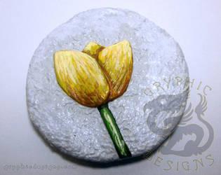 Yellow Tulip Magnet by leiko