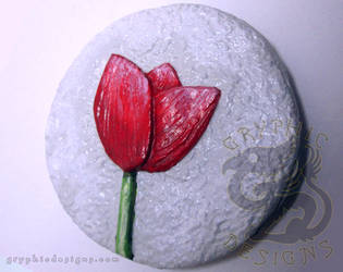 Red Tulip Magnet by leiko