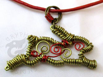 Running Rabbit Wire Wrapped Necklace by leiko