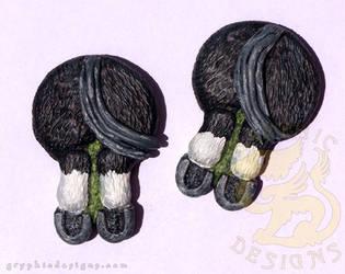 Black Horse Butt Magnet